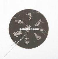 Decal 2D Metal Wholesale-Metal Stamping Nail Art Plate Accessories Set Kit Wholesale 20PCS Lot, BE13