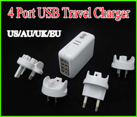 No   5V 2.1A Output 4 Ports usb Travel Charger WIth US AU EU UK Plug Charger for Mobile Phone Tablet Camera With Retail Package Free Shipping DHL