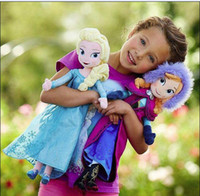 Unisex action figures comics - 20inch Frozen dolls cm elsa anna toy doll action figures Plush Toy for christmas gift