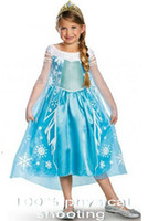 Wholesale ELSA lovely princess dress skirt dress The dress The costumes Role play the clothing