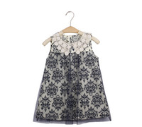 TuTu Summer A-Line Girl Dress New 2014 Summer Birthday Princess Dress Lace Printing Vest Kids Dress 4pcs lot Children's clothing wholesale