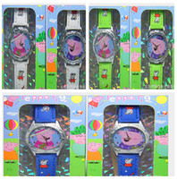 Wholesale new arrival peppa pig children s cartoon watch quartz waistwatch waterproof waitch for children colors design hot sale