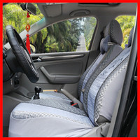 Wholesale Lovely cartoon snoopy gray color car seat covers soft and comfortable four season Bamboo leaves pattern sandwich materials car seat mat