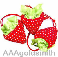 Wholesale 50PCS Strawberry bag Cute Foldable Shopping tote Bag Eco Reusable Recycle bags