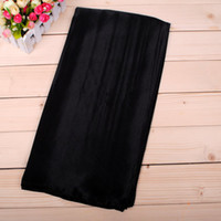 Wholesale 18 coors solid plain polyester imitation rayon silk satin muslim hijab Scarf Square Scarf Necker Chief cm mixed