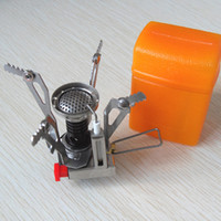 camping stove - Outdoor Picnic Gas Burner Portable Camping Mini Steel Stove Case Hot Silver
