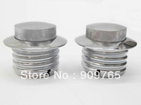 Wholesale Pair GAS FUEL TANK FLUSH POP UP CAP FOR HARLEY DAVIDSON SOFTAIL DYNA GLIDE CHROME