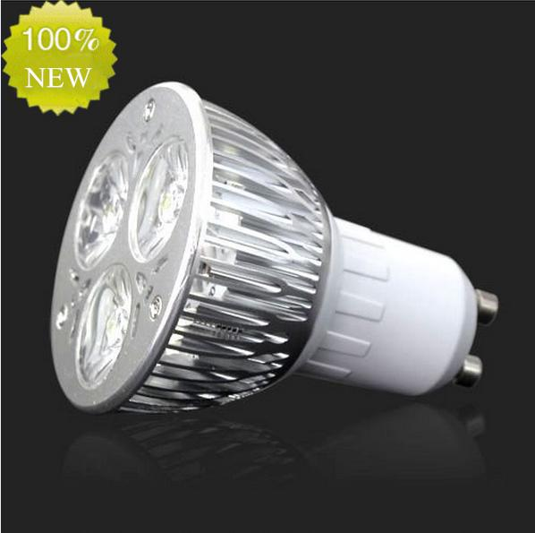 Haute puissance CREE 9W 3x3W LED Spotlight Dimmable GU10 ampoule MR16 E27 E14 B2