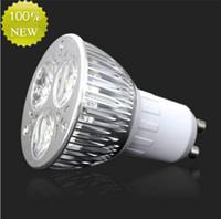 Wholesale High power CREE W x3W LED Spotlight Dimmable GU10 Bulb MR16 E27 E14 B22 Led Bulb Lamp Spot light led downlight led lighting