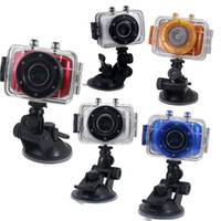 Wholesale Waterproof action camera HD Extreme Sports Camera Car Vehicle Traveling Data Recorder on board touch screen outdoor photography Camcorders