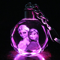 Wholesale new colors Snow treasure Elsa princess Ann FROZEN colorful LED crystal lamp