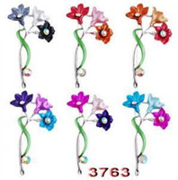 Wholesale 2014 NEW Alloy Rhinestone Plating Brooch Western Style Flower Female Jewelry W32156Y66