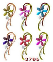 Wholesale 2014 NEW Alloy Rhinestone Plating Brooch Western Style Flower Female Jewelry W32158Y66