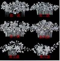 Wholesale 2014 Bridal Cown gril tiaras Flower Women Rhinestone Pearl headdress vintage Hair Accessories Wedding Dress