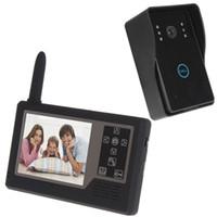 Wholesale Wireless Home Video Door Phone Intercom Doorphone Doorbell System Inch TFT Color Monitor Camera Kit ACA_018