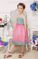 TuTu Summer A-Line Folding style 100% Polyester lovely baby girls Birthday Party dresses Wedding Spaghetti Straps sleeveless children's dress 1381