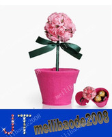 Wholesale Special ROSE Non Woven High Quality Paper Gift Boxes for wedding favor candy jewely flower boxes DIY MYY1438