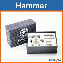 Wholesale Hammer mod kit stainless steel telescopic mechanical mods clone with gift box and extension tubes for