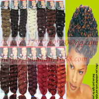 Wholesale x pression braid quot long g yaki curl braid xpression afro hair extensions ultra braid braiding hair braided colors available
