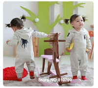 name brand baby clothes - name brand baby clothes pink amp gray girls long sleeve overalls infant bodysuit for autumn spring size80