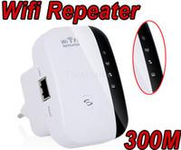 al por mayor amplificador de refuerzo exterior wifi-Gama de señal N WiFi 802.11n AP repetidor Transmisor enrutador inalámbrico a 300 Mbps Extender amplificador Booster al aire libre los 300M 100M cubierta