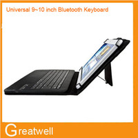 Folding Bluetooth Wireless No Universal 9 10 inch PU Leather Case Bluetooth Wireless Keyboard Cover Holder for IOS7 Nexus 7 Galaxy Note Acer Onda Tablet PC Retail Box 5pc