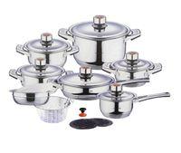 Wholesale SWISS INOX Pc Stainless Steel Cookware Set Fry Pots Pans Saucepan Casserole