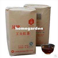 al por mayor al por mayor de la hoja de té-Comercio al por mayor -Libre 2014 500g china hoja grande de alta calidad del té negro de calidad especial de Yunnan Dian Hong té Té Rojo - congou