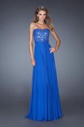 Wholesale 2014 Zuhair Murad Evening Dress Blue Chiffon Prom Dresses