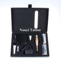 Wholesale Professional permanent makeup kits with Foot Pedal Dragon rotary tattoo machine gun For Eyebrow Lip MakeUp