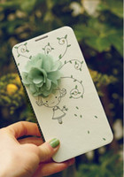 For Apple iPhone Leather  Fresh MR.H 3D Flower PU Leather Flip Case For Samsung N9000 N7100 I9600 I9500 I9300 Galaxy Note3 Note2 S5 S4 S3 For iPhone4 5 5C