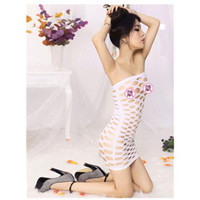 Wholesale 2014 New Arrival Strapless White Lingerie Sexy Attractive Stretchy Hollow Out Underwear Exotic Apparel Club Wear