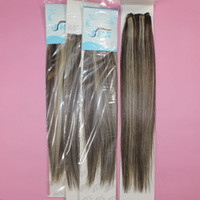 """Brazilian Hair Straight 16 18 20 22 24 26 inch 100% human hair extensions 5A straight Piano color #4 613 brazilian remy hair Weave 18""""-24"""" mix length 3 4pcs lot free shipping"""