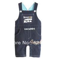 Boy Summer Baby Wholesale-HOT! RETAIL!2013 NEW Baby Romper, Baby cartoon suspender trousers, Baby Jumper pants, Free shipping