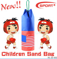 Wholesale Sandbag Children Boxing Bag Training Fitness PU leather empty bag cm RED BLUE Punching Bags Sand Bag