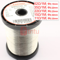 Wholesale Quality Cr20Ni80 Resistance Wire Heating Coils for E Cigarette Atomizer ATTY DIY Optional Resistance
