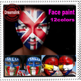 Wholesale World Cup12ml color Face Paint Colored Drawing Body Paint