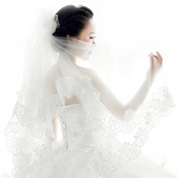 Wholesale QSWavy lace meters long paragraph bulk yarn lace bridal veil trailing wedding veil wedding accessories