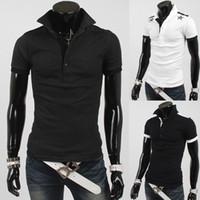 Men Polo Fashion Tee Fashion New Korea slim men's t shirts Casual short sleeve Star shirts T-shirt mens t shirts polo shirts