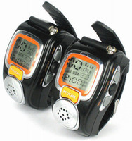 Wrist Watch walkie talkie watch - Protable Backlit Pair LCD Two Way Radio Intercom Digital Mobile Walkie Talkie Travel Wrist Watch DualBand Interphone Transceiver SEC_001