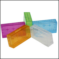 Wholesale New land Plastic Battery Case Box Holder Storage Container pack or CR123A and for mechanical mod batteries
