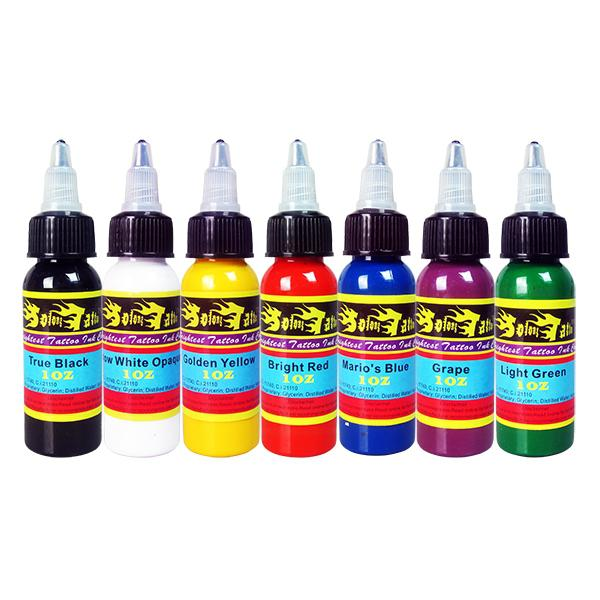 Hot sale solong tattoo tattoo ink 1 oz 30ml bottle for Tattoo ink color chart