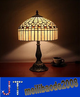 No lamps stained glass - Tiffany Desk lighting Table Lamp Home Light Jewel Bronze Finished Table Lamp European Rural Contracted Fashion Stained Glass HSA450