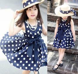 New Polka Dot Kids Girls Dress Clothing Party Bowknot Sleeveless Princess