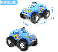 Wholesale Kids Toy Mini Rolling Stunt Cars Mickey Cross Country Electric Car Turn Over At Barrier Off road Vehicle Best Gift