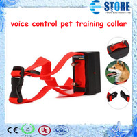 Wholesale Digital voice control pet training no barking shock bark stop dog train collar wu