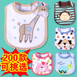 Wholesale Infant Baby Exquisite embroidery bibs Three layer waterproof cotton supplies for children style