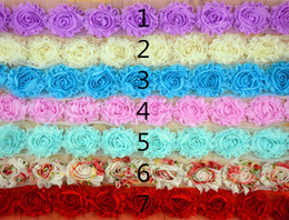 Wholesale Pure Chiffon flower inch shabby Baby Head flower accessories Clothing Accessories yard