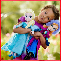 Wholesale New Really Girl Frozen Dolls cm inch Elsa Anna Toy doll Action Figures Plush Toy Baby Frozen Kristoff Dolls Christmas Gifts EMS Free