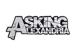 Wholesale ASKING ALEXANDRIA Grunge Music Band LOGO Embroidered cm x cm NEW IRON ON and SEW ON Patch Heavy Metal Custom design patch available